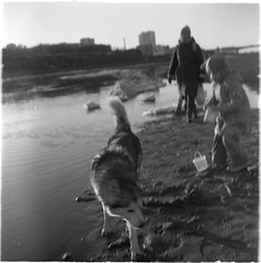 Scan-190521-0005 (Oleg Green (lost)) Tags: floatingofice vyatka russiaprovince river family kids tlr 120film seagull4a103 ilfordxpii rodinal people