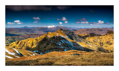 Topping Out (Augmented Reality Images (Getty Contributor)) Tags: nisifilters benmore bluesky canon clouds glen highlands meallnantarmachan morning mountains munro panorama perthshire scotland snow spring stobbinnein tarmachanridge vanguard