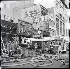 "19650523-MN-44-1477 (8) (Official New York City Fire Department (FDNY)) Tags: fdny fire firefighting 1960s vintage ""throwback thursday"" tbt ""fire engine"" truck"" water nyc ladder truck ""new york city"" building suppression"" firefighter rescue smoke flames manhattan"