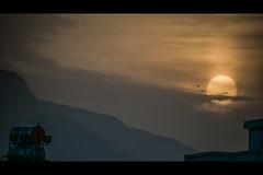For Yvonne (Melissa Maples) Tags: antalya turkey türkiye asia 土耳其 nikon d3300 ニコン 尼康 tamron 18400mm f3563 18400mmf3563 diii vc hld roofview widescreen letterbox cinema cinematic movie 169 evening dusk sundown sunset watertank mountains hazy haze summer sun silhouette