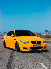 BMW E60 550 (Giorgi jikhvaria) Tags: bmw e60 m5 550 cars drift yellow summer batumi georgia automobile luxury mercedesbenz amg m power photography canon 2019