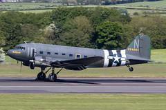 N74589 Douglas DC-3/C-47 Placid Lassie Prestwick 22.05.19 (Robert Banks 1) Tags: n74589 douglas dc3 dakota c47 placid lassie id n 224064 prestwick egpk pik