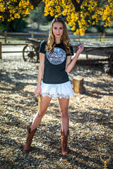 Sharp Carl Zeiss Sony Sonnar T* FE 55mm f/1.8 ZA Lens SEL55F18Z ! Pretty Green Eyes Athena! Beautiful Cowgirl Model Goddess Gold 45 Revolver Cowboy Boots Country Woman!  White Summer Dress & Blue Jeans Cutoffs Daisy Dukes! Tan Cowboy Boots! Sony A7 R (45SURF Hero's Odyssey Mythology Landscapes & Godde) Tags: pretty green eyes athena beautiful cowgirl model goddess gold 45 revolver cowboy boots country woman white summer dress blue jeans cutoffs daisy dukes dx4dtic 45surf 45epic sony a7 r 55mm carl zeiss f18 prime lens