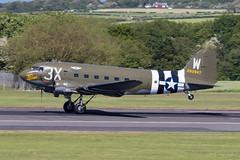 N47TB Douglas DC-3/C-47 That's All Brother Prestwick 22.05.19 (Robert Banks 1) Tags: n47tb douglas dc3 c47 thats all brother caf prestwick egpk pik 3x w commemorative air force 292847