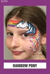 G-019 RAINBOW PONY (BEYOND Face Painting) Tags: girls girl animals animal beyond bfp originals