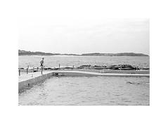 swimmers, Sydney 2015  #077 (lynnb's snaps) Tags: 2015 35mm freshwater iiic ltm leica leicaiiic bw film leicafilmphotography summicron5cmf2collapsibleltm ilfordhp5 kodakd76 rangefindercameras rangefinderphotography rangefinderforum summer beach coast ocean sydney australia ©copyrightlynnburdekinallrightsreserved