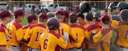 Alejandro Maltos-Garcia is congratulated by teammates after his grand slam the fourth inning.Alejandro Maltos-Garcia is congratulated by teammates after his grand slam the fourth inning. - 514.2048