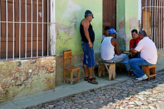 Street Players (emerge13) Tags: street candid humans people cardplayers trinidadsanctispirituscuba cuba colonial colonialarchitecture trinidadcuba architecturaldetails architectureheritage hof