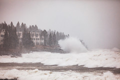 Winter storm Wesley in Tofte MN (michaelraleigh) Tags: 200mm wind crashing northshore landscape winter serene highquality canon weather clouds season trees superiornationalforest blizzard marais beautiful longshot infocus waves snow outdoors storm canoneos5dmarkii crash f28l minnesota