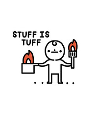 Stuff is tuff (randyotter) Tags: art design illustration illustrator randyotter cute funny drawing arty wacom digitalart