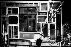 Mur Fenetre (Ned_Photo) Tags: deco fenetre mur paris restaurant cafe bar window wall ladechetterie blackandwhite bnw bw