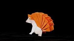 Hedgehog (guangxu233) Tags: art paper fold paperart paperfolding handmade hedgehog origami origamiart 折纸 摺紙 折り紙 折り紙作品 animal