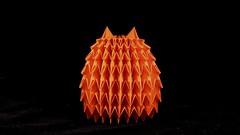 Hedgehog (guangxu233) Tags: art paper fold paperart paperfolding hedgehog animal handmade origami origamiart 折纸 摺紙 折り紙作品 折り紙