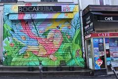 Yandy_1587 rue de Belleville Paris 20 (meuh1246) Tags: streetart paris yandy ruedebelleville paris20 belleville rideaumétallique animaux oiseau