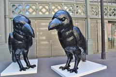 Laurence Vallières_5498 rue Eugène Spuller Paris 03 (meuh1246) Tags: streetart paris animaux oiseau laurencevallières rueeugènespuller paris03 corbeau