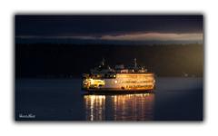 Last Crossing (Daniel.Burns) Tags: ferry ships shipping mv spokane boat pugetsound sunset storms nightphotography seattle crossing seascape