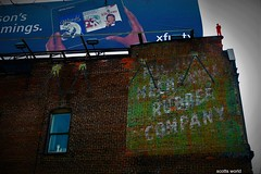 Waving at the Red Man (Explore!) (SCOTTS WORLD) Tags: adventure america abandoned architecture angle art artwork americana sky city crusty rusty windows weathered white hand redman green ghostsign sign winter february 2019 panasonic pov perspective detroit digital decay downtown detail michigan midwest motown motorcity 313 exploring exhibit urban usa unitedstates urbex urbanexploring urbandecay urbanart