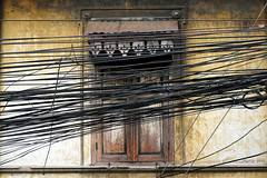 Windows Online (martin.miro) Tags: window cables cable wood street urban city building architechture lines online electricity green wall house wooden