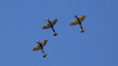 Spitfire Formation (Bernie Condon) Tags: vickers supermarine spitfire warplane fighter raf royalairforce fightercommand ww2 battleofbritian military preserved vintage aircraft plane flying aviation formation