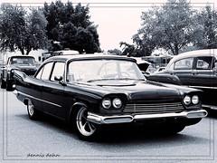 Savoy (novice09) Tags: backtothefifties carshow plymouth 1958 customized blackandwhite monochrome photoscape ipiccy