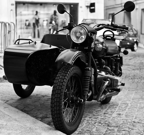 "Side car motorbike ""Ural"""