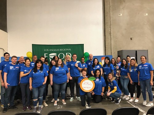 """LA Footwear Cares volunteers at the LA Regional Food Bank • <a style=""""font-size:0.8em;"""" href=""""http://www.flickr.com/photos/45709694@N06/47562949982/"""" target=""""_blank"""">View on Flickr</a>"""
