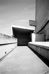 Saint Pierre de Firminy (RG-Photographie) Tags: 28mm7artisans acros100 analog architecture argentique film firminy france fujifilm lecorbusier leica leicam2 monochrom neopan