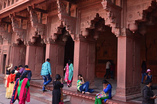 Posing for the camera, Fatehpur Sikri