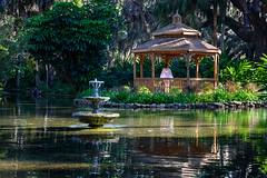 Her priviate space - Palm Coast, FL (ChuckPalmer {cepalm}) Tags: palmcoast washingtonoaksgardens alone florida forest fountain garden girl nature private water chuckpalmer