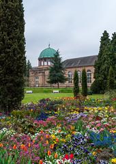 Blütenpracht (KaAuenwasser) Tags: botanischengarten blütenpracht garten beet anlage park blumen blüte blüten bunt farben orangerie gebäude baum bäume