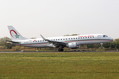 CN-RGO Embraer E-190-100AR RAM Royal Air Maroc MAN 15APR19 (Ken Fielding) Tags: cnrgo embraer e190100ar ram royalairmaroc aircraft airplane airliner jet jetliner regionaljet