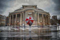 Don't Forget Your Umbrella (Paul Flynn (Toronto)) Tags: university toronto city umbrella rain reflection convocation hall architecture overcast cloud wet brolly water clouds ontario nikon