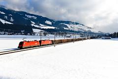 ÖBB 1016.021 Brixen im Thale (1786n) (christophschneider1) Tags: giselabahn salzburgtirolerbahn bockern brixenimthale brixental tirol öbb rca railcargoaustria taurus es64u2 siemens 1016 1016021 tandem doppeltraktion gemischtergüterzug holztransport holz g54452 d850