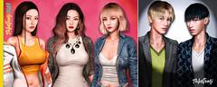 「 t a k e t o m i 」04/16/2019 - Hwasa, HyeLin, TaeYeon, YuGyeom, JB @ CLUB TAKETOMI (taketomi // taketomiWEST // BURLEY // HOLLY MILL) Tags: taketomi clubtaketomi hair salon secondlife