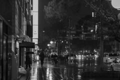 rainy night (Hideki Iba) Tags: rain rainy people osaka japan night nikon d850 58mm car blackandwhite whiteandblack monochrome bw 白黒 黑白