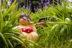 fat lass in the blue bells 01 (Mark Rigler -) Tags: fat lass girl woman sexy cute sweet female beauty face model scale figure swim suit sun glasses boobs tetas tatas size frauen hände brüste white bikini bathingsuit woods trees forest leaves