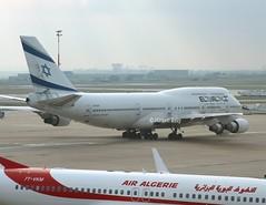El Al                               Boeing 747                           4X-ELH (Flame1958) Tags: elal elalb747 boeing747 boeing b747 747 4xelh cdg pariscdg parischarlesdegaulle cdgairport airalgerie 7tvkm 261016 1016 2016 4904