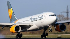 Thomas Cook Airbus A330 (ianclarke82) Tags: gtcxb thomascook thomascookairlines a330 airbusa330 a330243 airport airlines airliners aviation aviationphotography landing flying runway newyork manchester jfk man manchesterairport egcc tcx