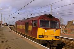 EW&S 60012 (bobbyblack51) Tags: british railways ews class 60 brush mirrlees coco diesel locomotive 60012 newton on ayr station 1997