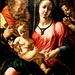 Holy family with St. John Baptist Infant(c.1520-1530) - MASTER OF THE MANCHESTER MADONNA (Active early 16th Century)