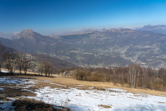 Mountain landscape from Valcava, Lombardy (clodio61) Tags: bergamo europe imagna italy lecco lombardy march valcava color day landscape mountain nature outdoor pass photography plant scenic snow springtime sunny tree valley view