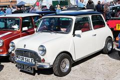 1972 Austin Mini NHX854L Brooklands Mini Day March 2019 (davidseall) Tags: 1972 austin mini car nhx854l nhx 854l classic original old shape style great british white brooklands day march 2019 weybridge surrey uk