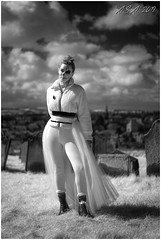 """Whitby Goth Weekend (""""A.S.A."""") Tags: whitby whitbygothweekend northyorkshire britain goth gothweekend gothic gothics infrared830nm portrait sonya7rinfrared830nm zeisssonnarfe55mmf18za primelens blackwhite mono monochrome greyscale niksoftware silverefex asa2019"""
