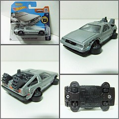 """BACK TO THE FUTURE"" TIME MACHINE HOVER MODE - HOT WHEELS (RMJ68) Tags: delorean dmc back to the future time machine hover mode hot wheels hw screen coches cars juguete toy 164 scale film movie"