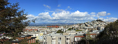Towards Coit Tower and the East Bay (JB by the Sea) Tags: sanfrancisco california february2019 urban northbeach russianhill chestnutstreet sanfranciscoartinstitute sfai panorama panoramicview
