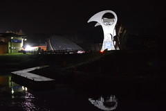 Falkirk Wheel at Night (CoasterMadMatt) Tags: falkirkwheel2018 falkirkwheel falkirk wheel boatlift boat lift canal canals monument landmark scottishlandmarks landmarks sterlingshire centrallowlands central lowlands scotland britain greatbritain unitedkingdom gb uk europe illumination illuminated atnight inthedark floodlit light lights litup reflection reflections structure december2018 autumn2018 december autumn 2018 coastermadmattphotography coastermadmatt photos photographs photography nikond3200