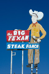 The Big Texan (dangr.dave) Tags: neon neonsign tx texas downtown historic architecture route66 thebigtexan steakranch amarillo cowboy sign