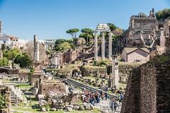 City Life (RoamingTogether) Tags: 70200vrii colonnetetrarchiche crowd europe iltempiodeidioscuri italy nikon nikon7020028 nikond700 romanforum rome tempiodivesta templeofvesta