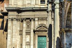 Through the green door lies Heaven (RoamingTogether) Tags: 70200vrii arcodisettimiosevero chiesadeisantilucaemartina door europe hdr italy nikon nikon7020028 nikond700 romanforum rome septimiusseverusarch