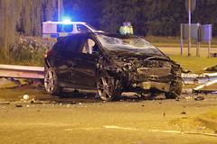 IMG_7278 (Yorkshire Pics) Tags: 1704 17042019 17thapril 17thapril2019 carcrash caraccident roadtrafficcollision roadtrafficaccident garforth incident writeoff damage damaged
